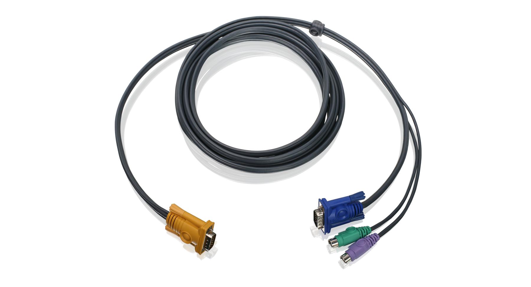 iogear - g2l5202p  2 kvm cable 6 ft