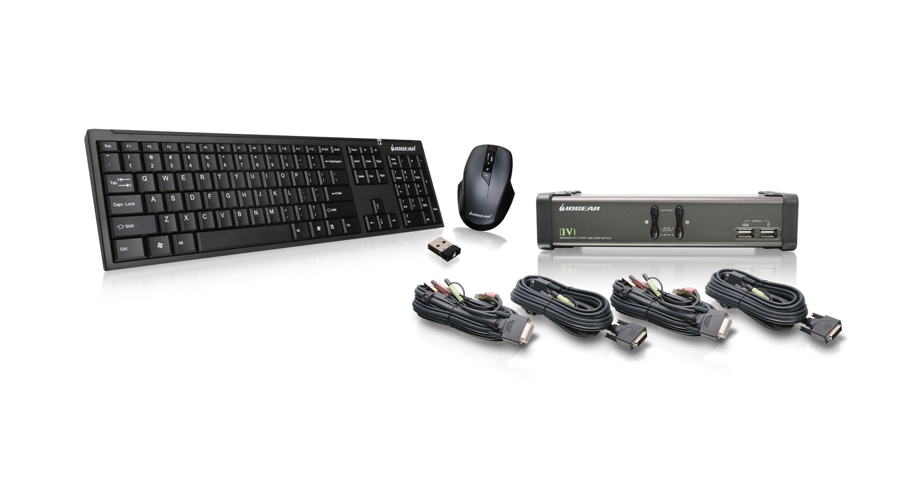 IOGEAR GCSKM Port DVI KVMP With Cables And Wireless - Port dvi