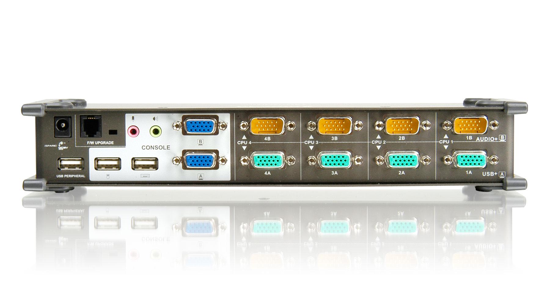 IOGEAR - GCS1744 - 4-Port DualView USB VGA KVMP Switch with