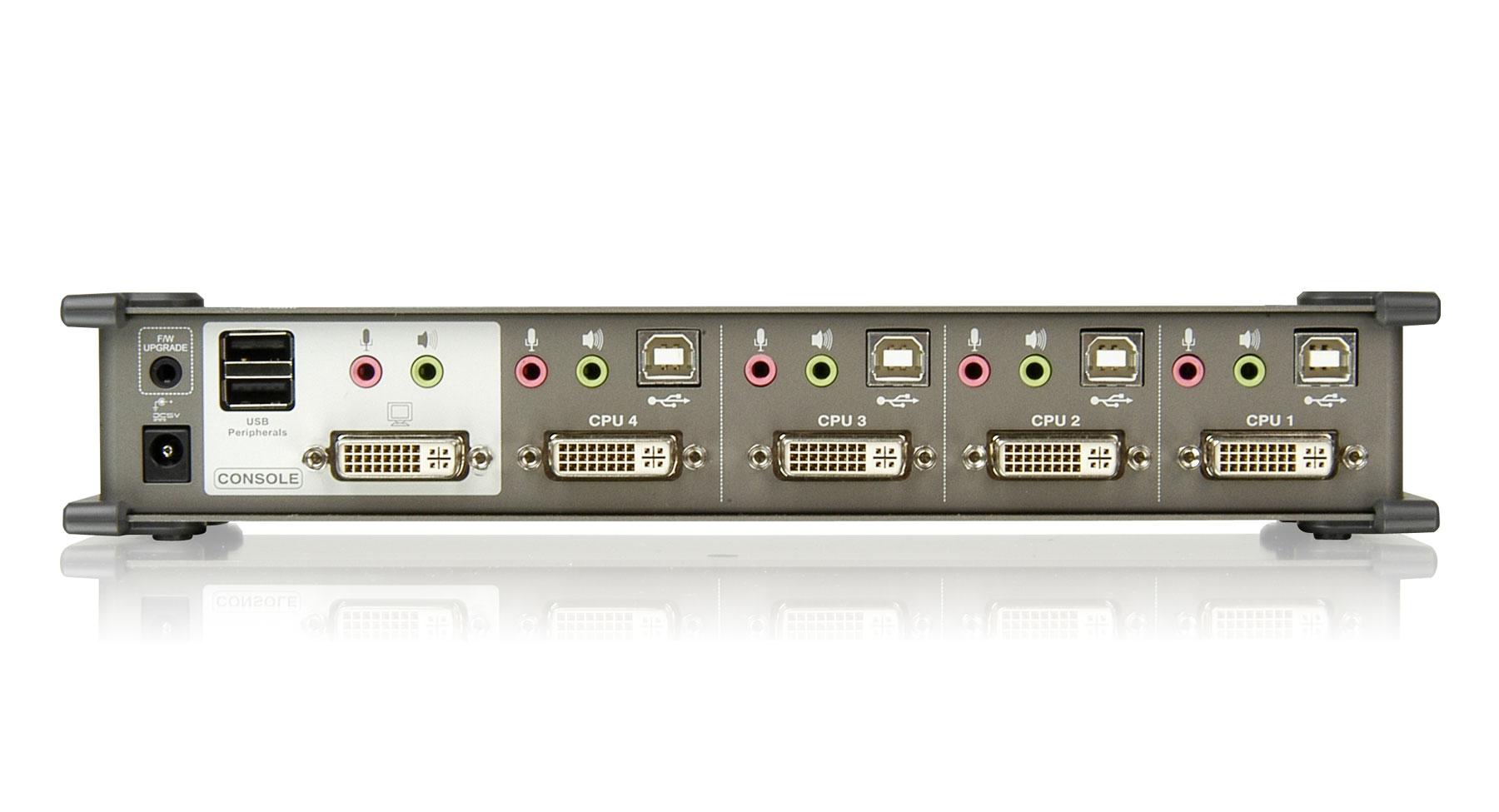 Iogear Gcs1764 4 Port Dvi Kvmp Switch With Audio And