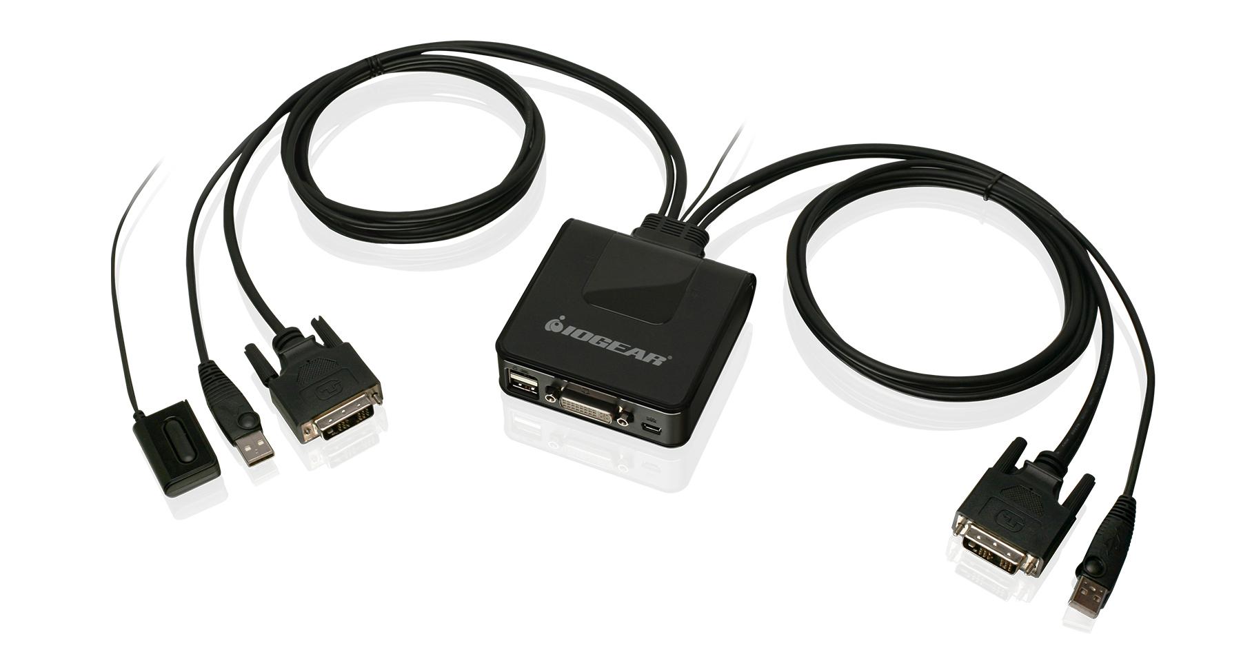 IOGEAR - GCS922U - 2-Port USB DVI Cable KVM Switch