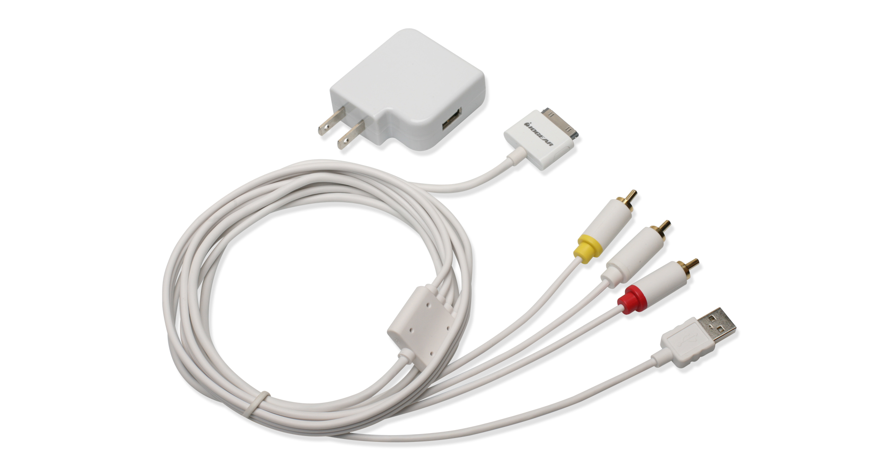 Composite AV Cable with Charge and Sync for iPhone / iPod