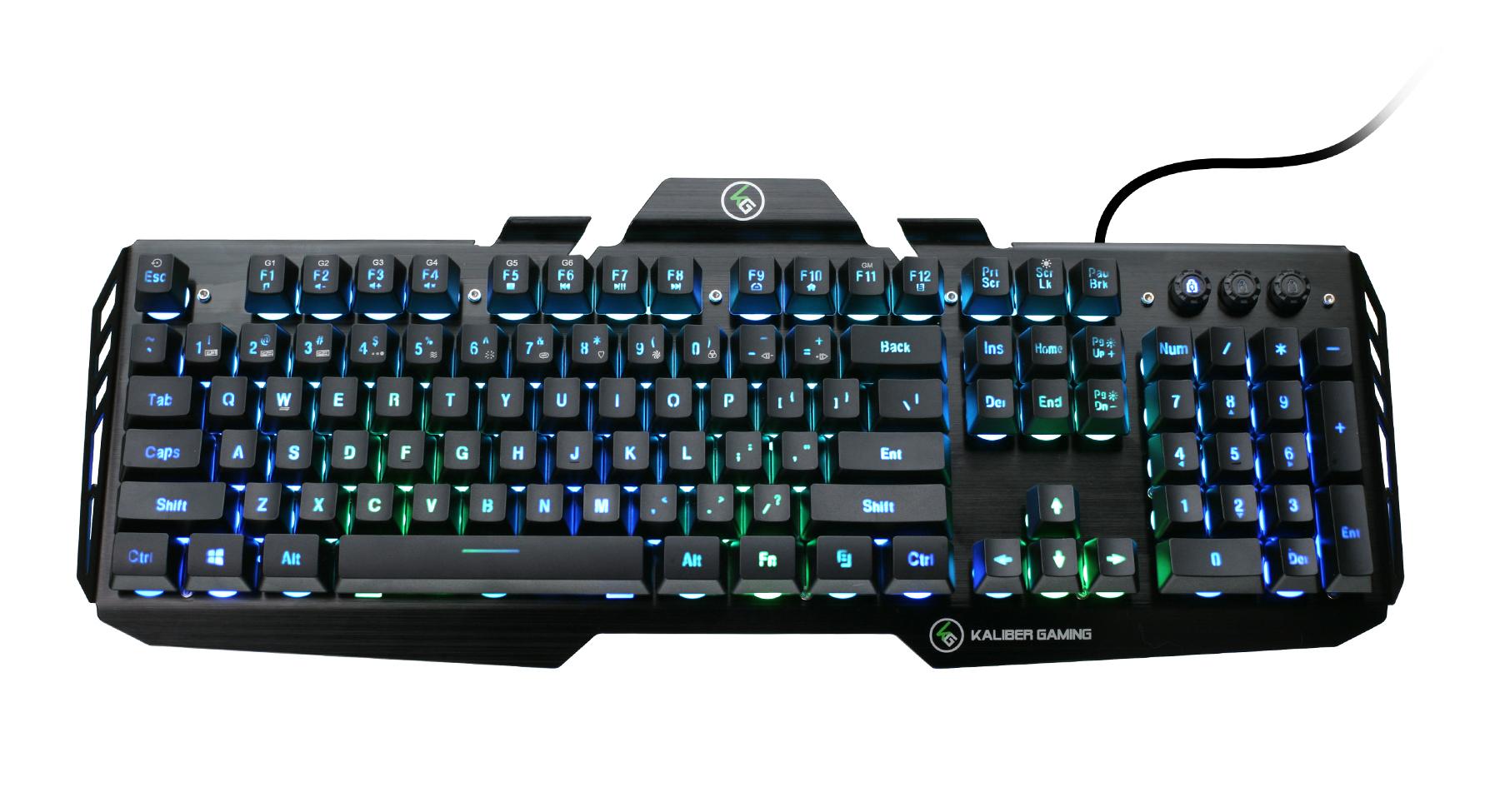 Iogear Gkb704rgb Hver Rgb Aluminum Gaming Keyboard