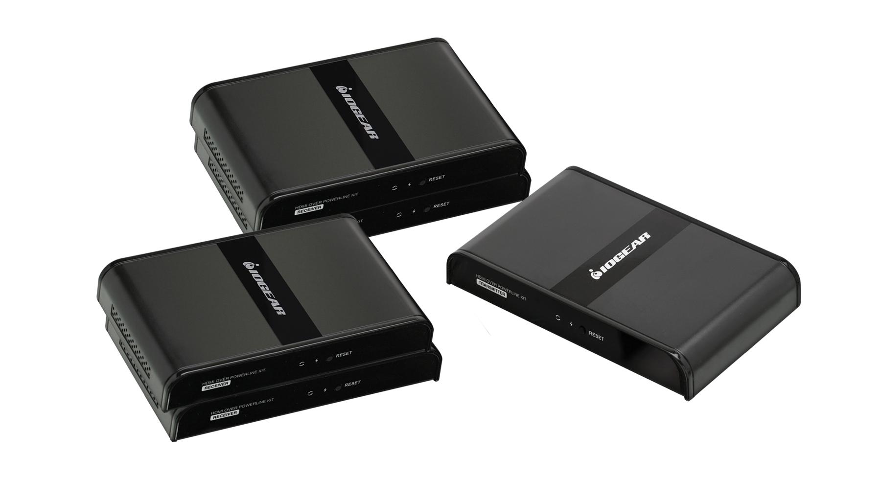 Kết quả hình ảnh cho Iogear HDMI Over Powerline Pro Kit