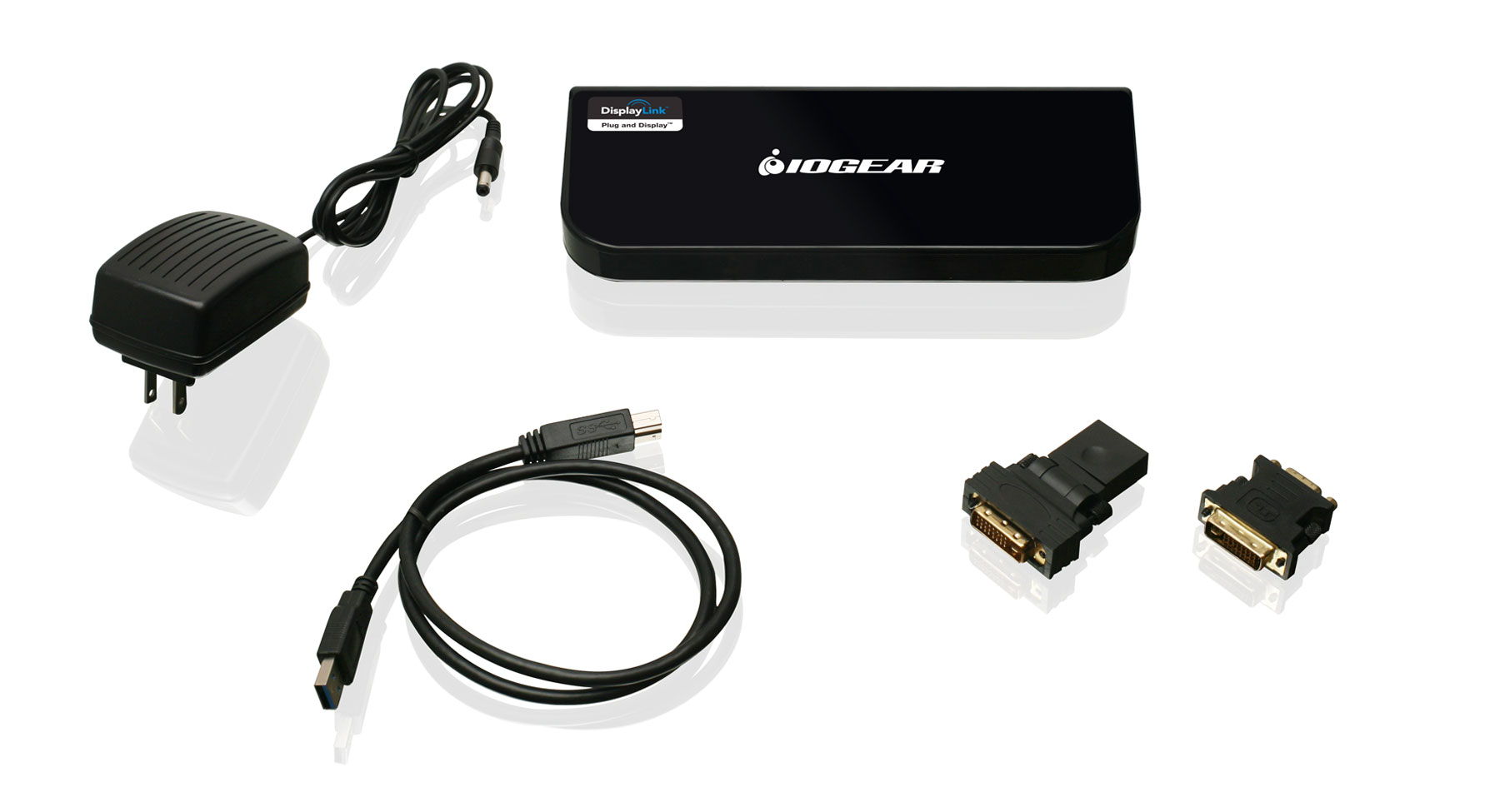 IOGEAR - GUD300 - USB 3 0 Universal Docking Station with Power Adapter