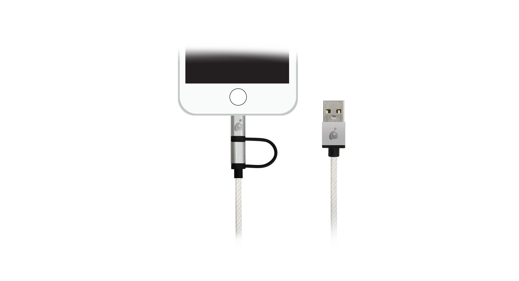 Iogear Guml01 Sil Duolinq 2 In 1 Charge Sync Cable Silver Wiring Black White Gold More Views