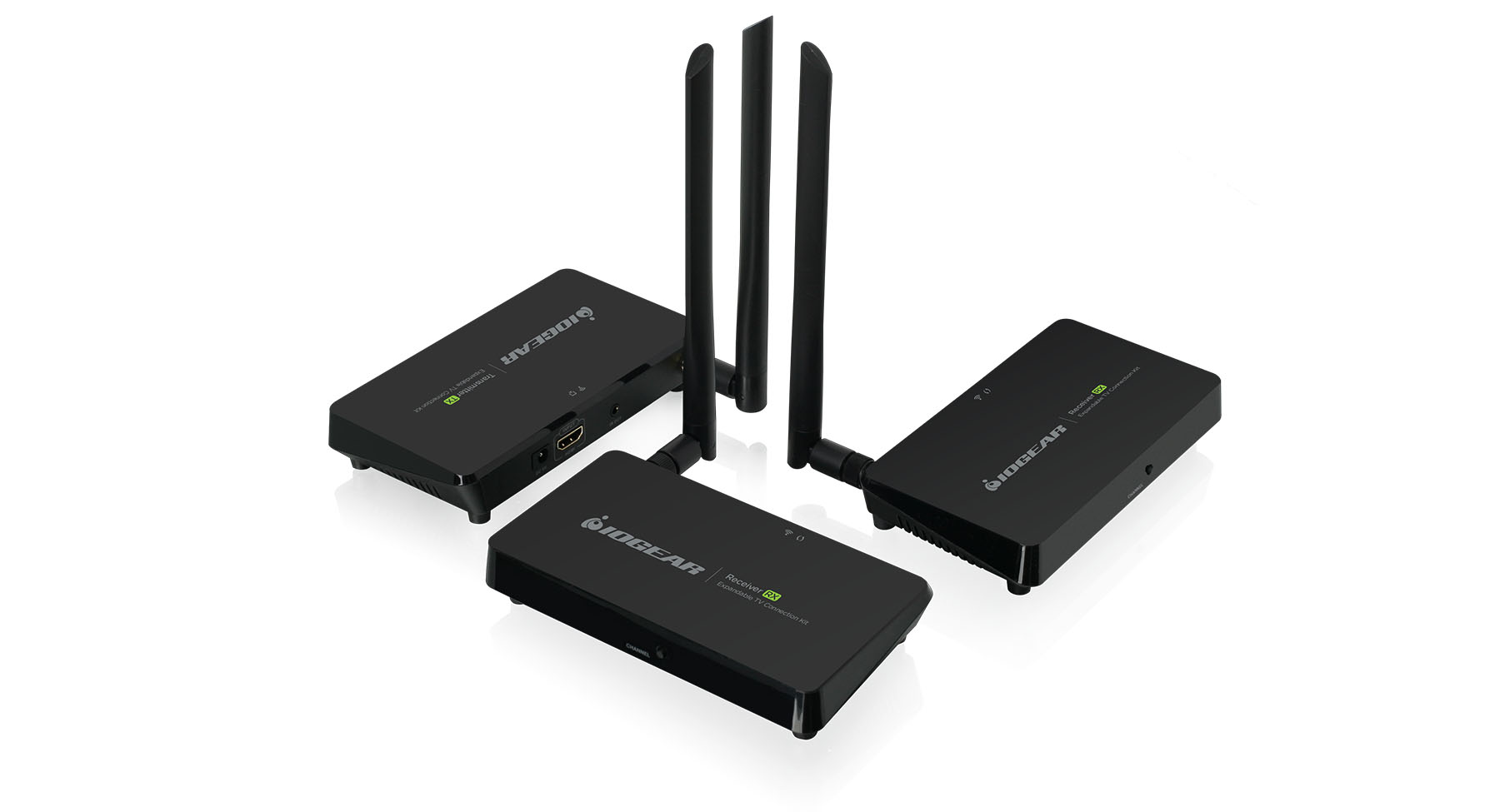 Expandable Wireless TV Connection Kit with 2 Receivers