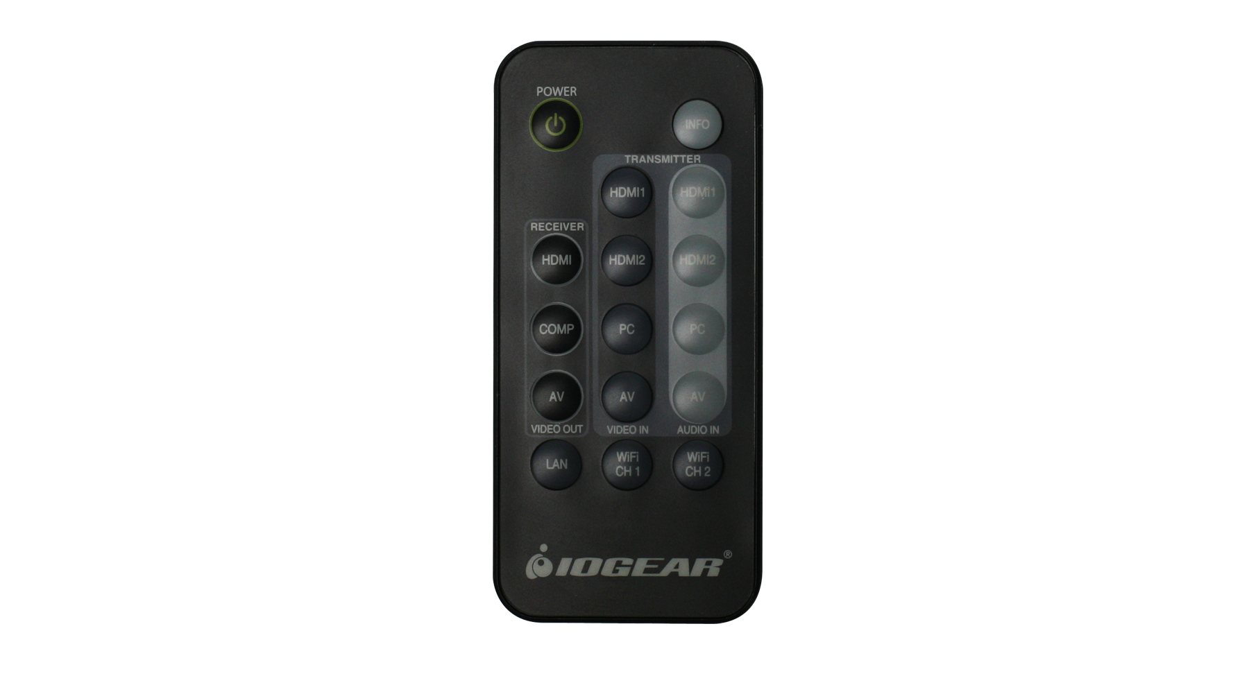 Iogear Gwrc8100 Ir Remote Control For Wireless Hd Kit Infrared Switch Transmitter Circuit