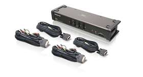 4-Port DVI KVMP Switch with Audio and Cables (TAA Compliance)