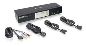 2-Port DualView Dual-Link DVI KVMP Switch with Audio (TAA Compliant)