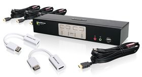 4-Port HDMI and DisplayPort KVMP Kit (TAA Compliant)