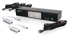 4-Port HDMI and Mini DisplayPort KVMP Kit (TAA Compliant)