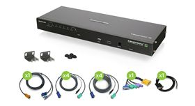 8-Port IP Based KVM Kit with USB KVM Cables