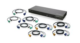 8-Port IP Based KVM Kit with PS/2 and USB KVM Cables